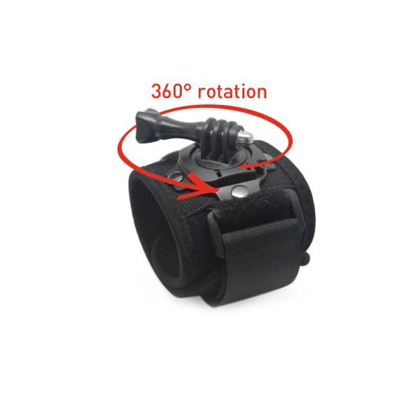 GoXtreme Wrist-Mount 360° Rotation