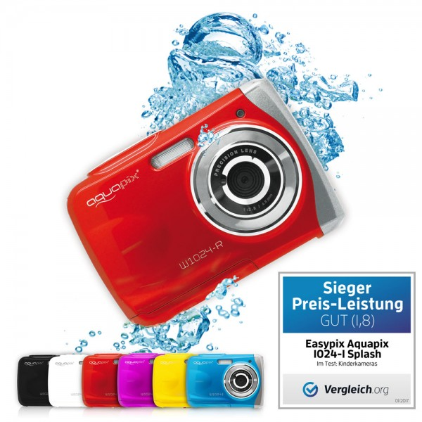 "Aquapix W1024-R ""Splash"" Red"