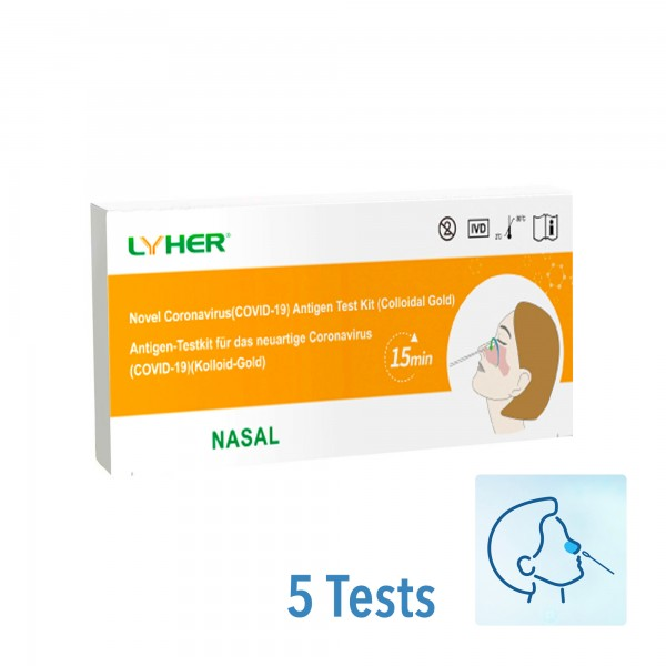 LYHER® Covid-19 Antigen Schnelltest (Nasal) (5/P)